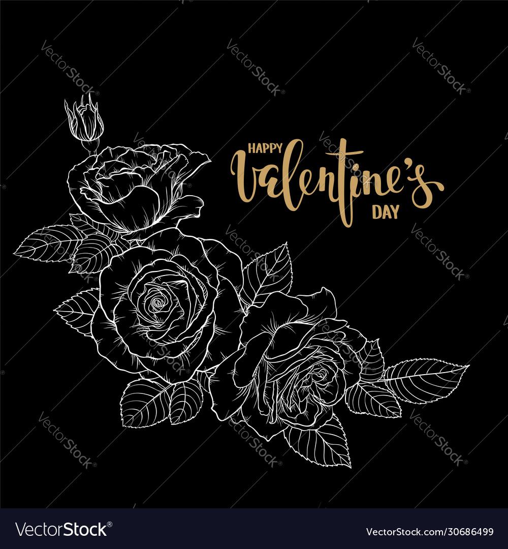 Happy valentine s day hand drawn creative