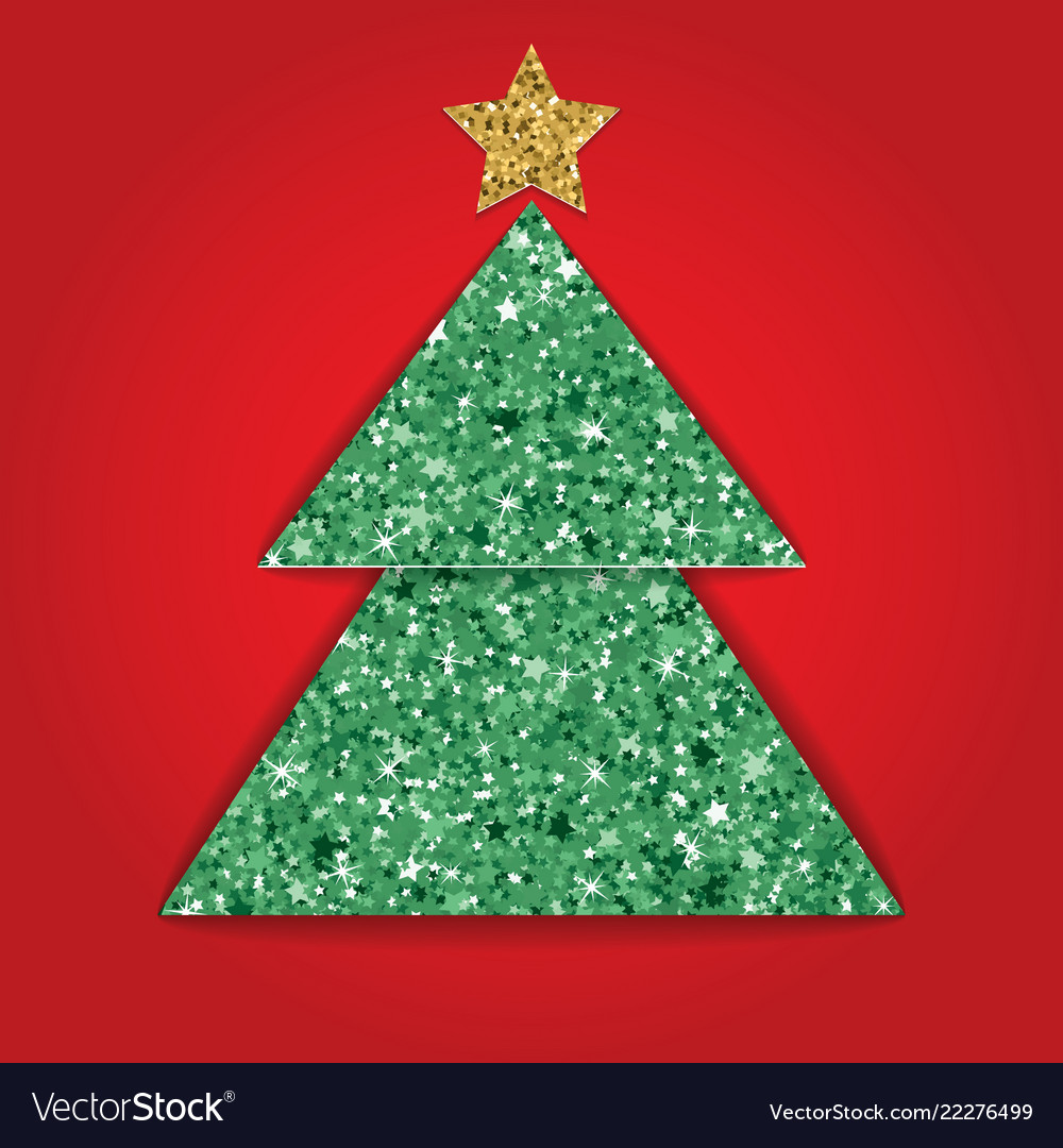 Layered cut out paper christmas card with glitter