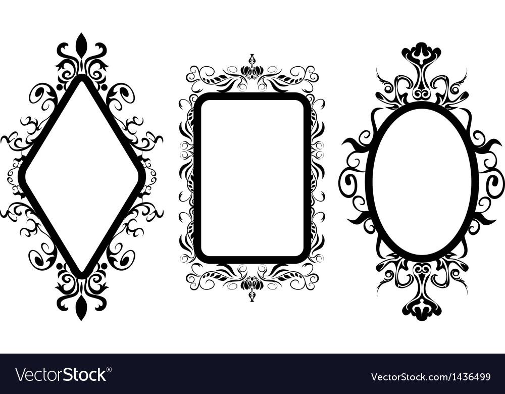 Vintage frame mirror