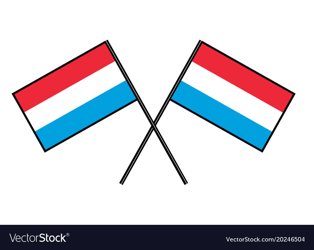 Flag of luxembourg stylization of national banner