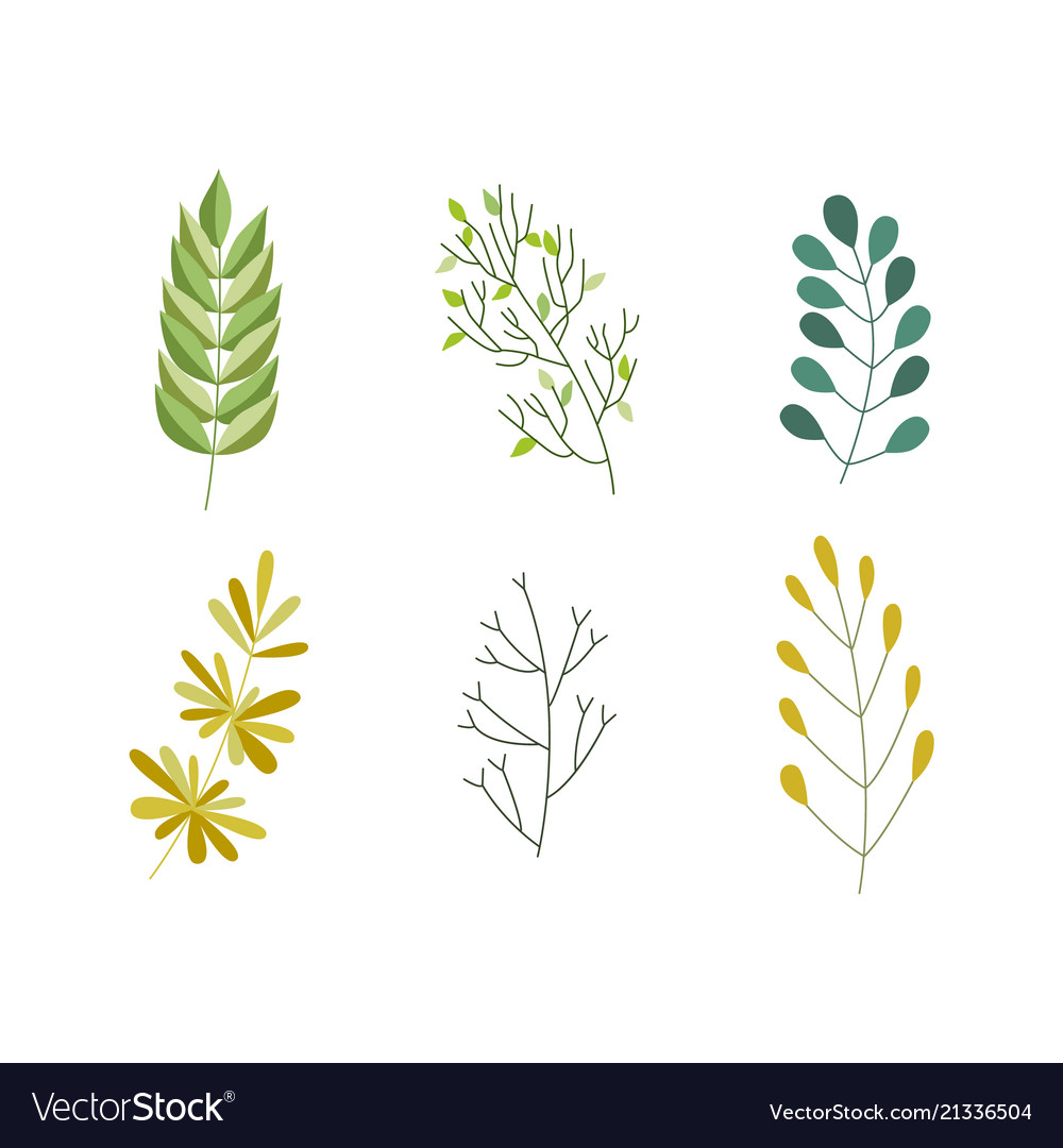 Flat abstract green plant icon