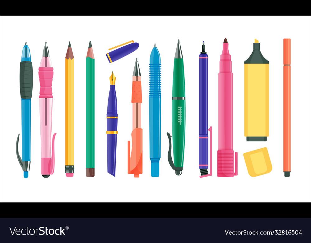Pens and pencils set