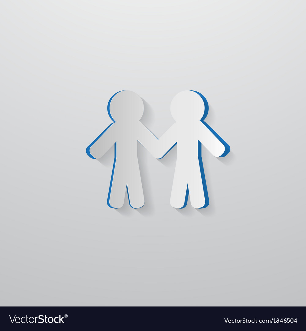 People Holding Hands Cut From Paper