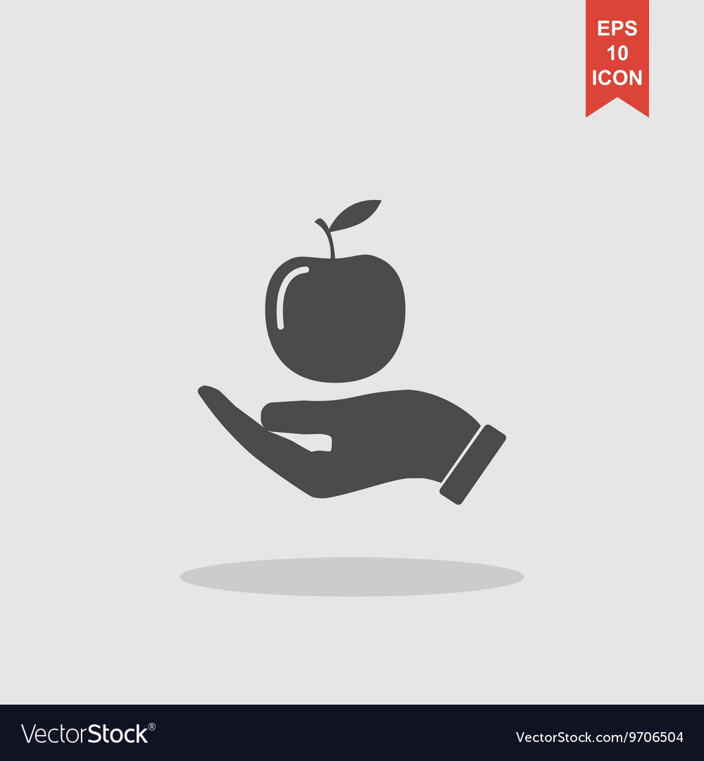 Pictograph of apple vector image