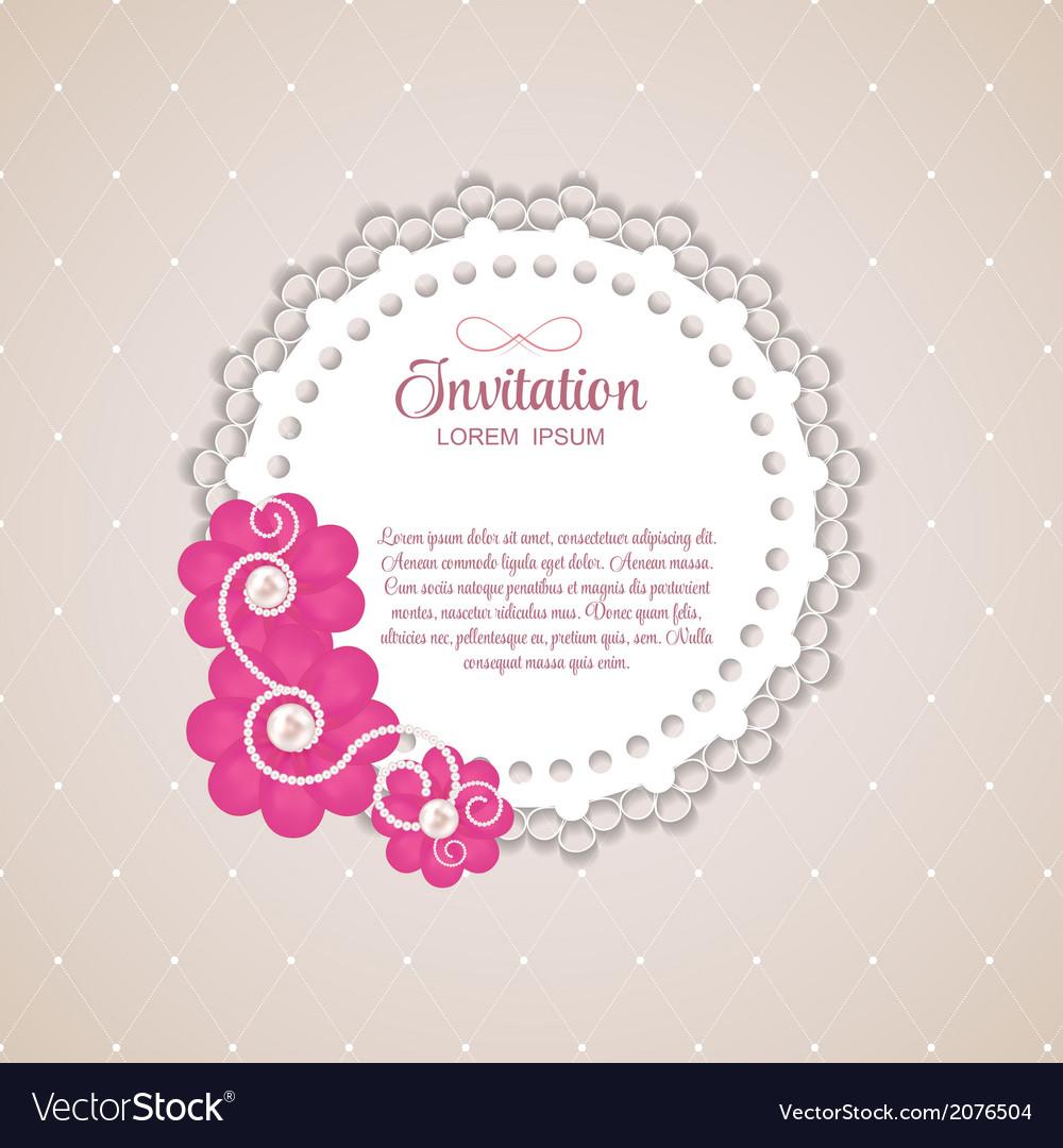 Romantic Flower Vintage Invitation Card Background