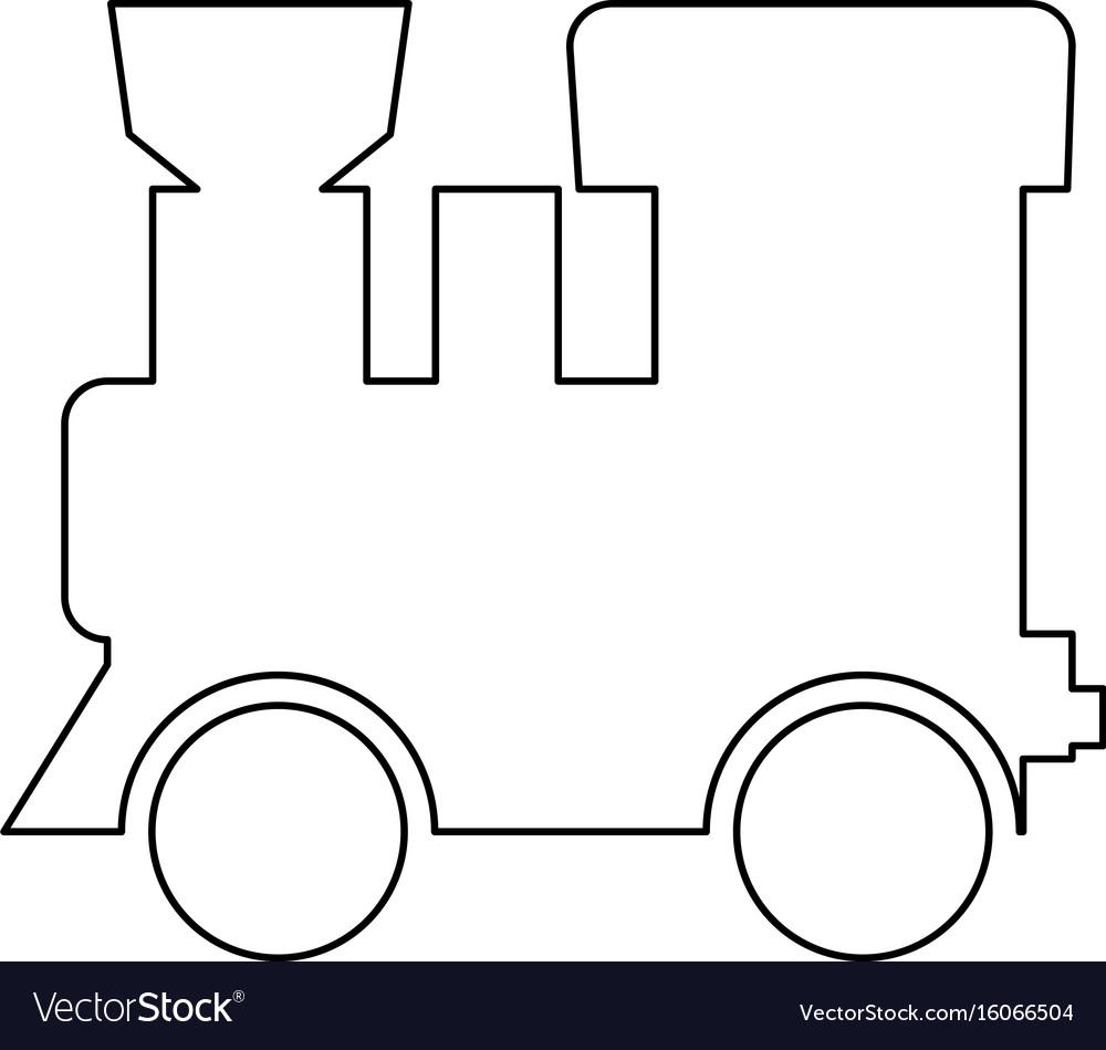 Steam locomotive - train black color path icon vector image