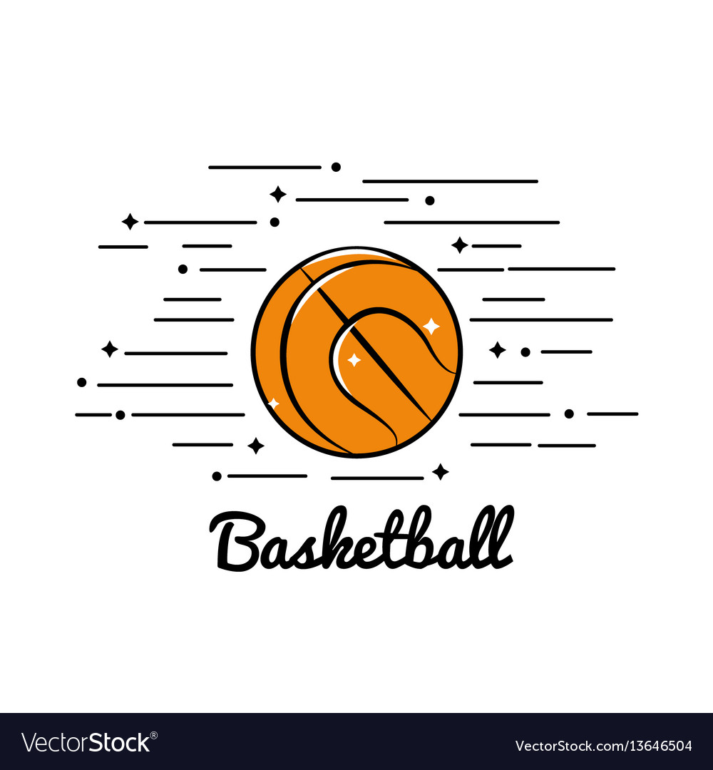 Symbol basketball play icon vector image