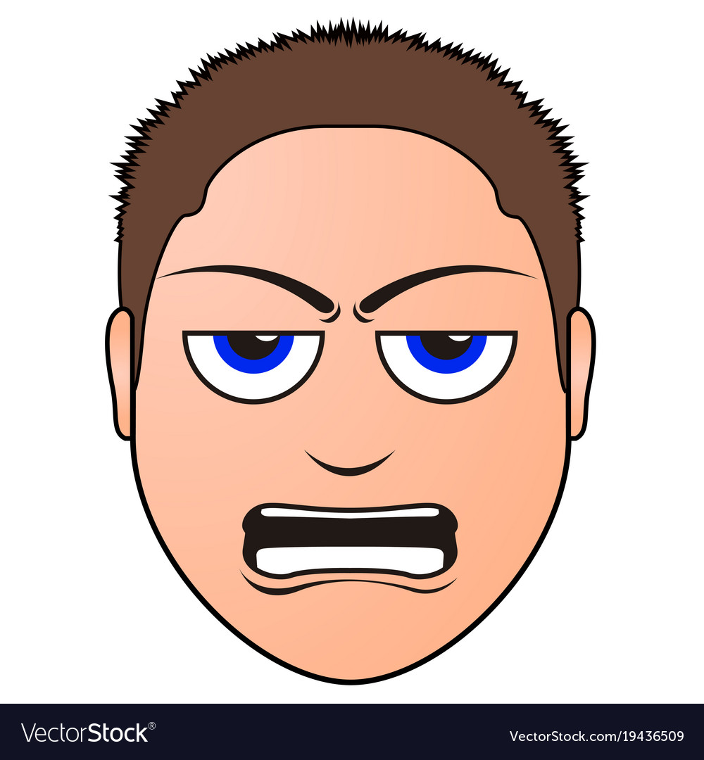 Angry man avatar