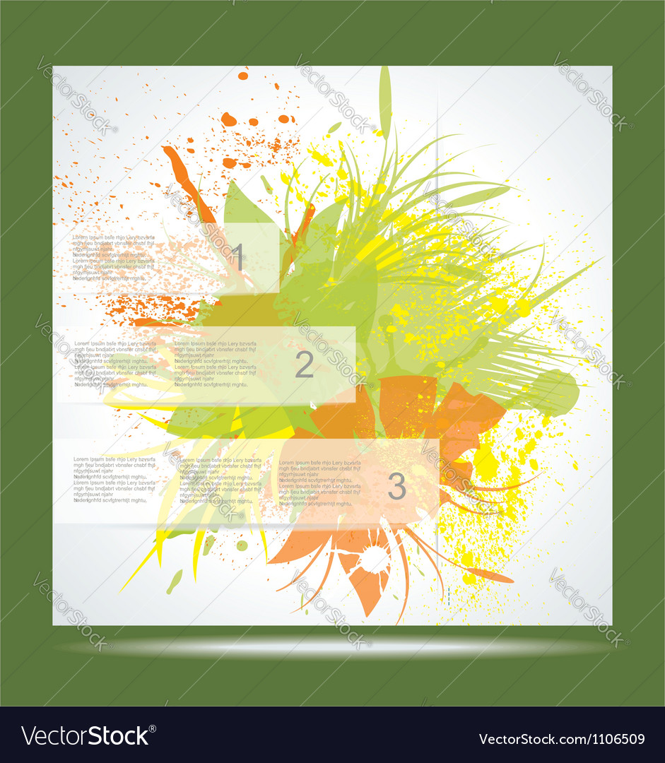 Brochure layout design template green abstract