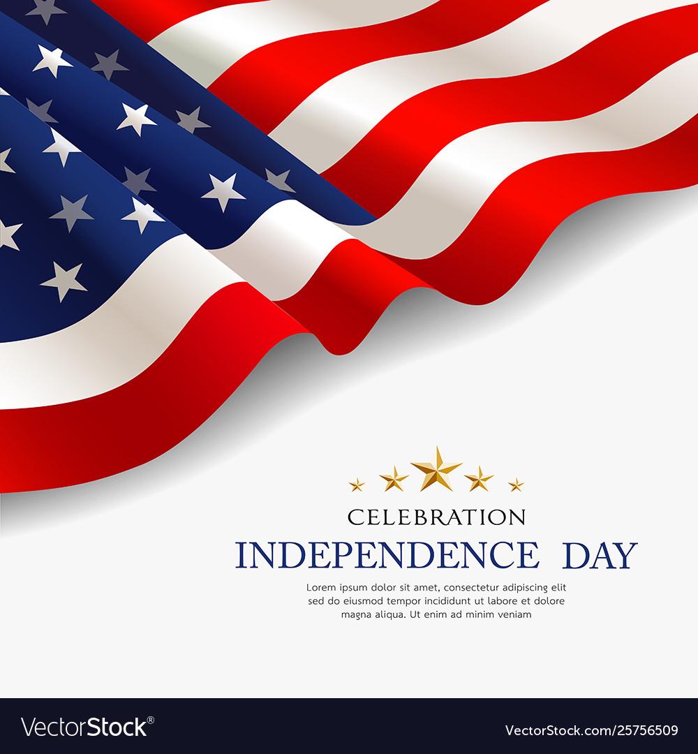 Celebration flag america independence day