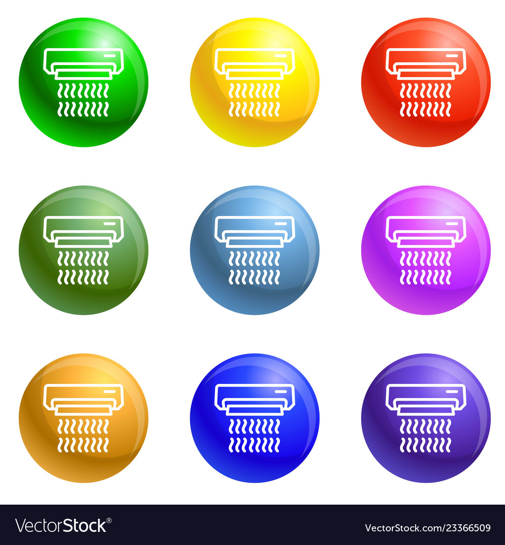 Conditioner control icons set