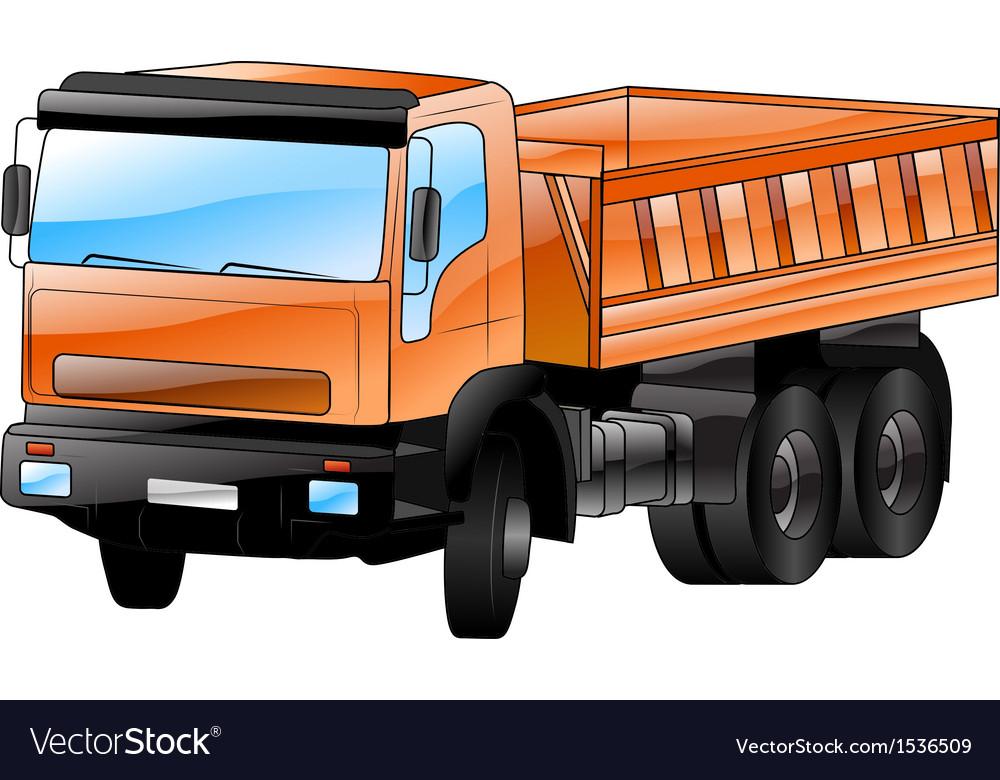 Construction car vector image