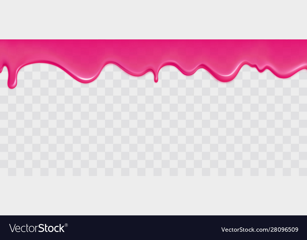 Dripping glossy pink slime border