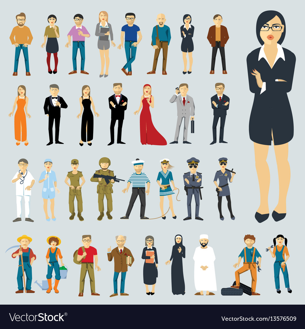Flat design people