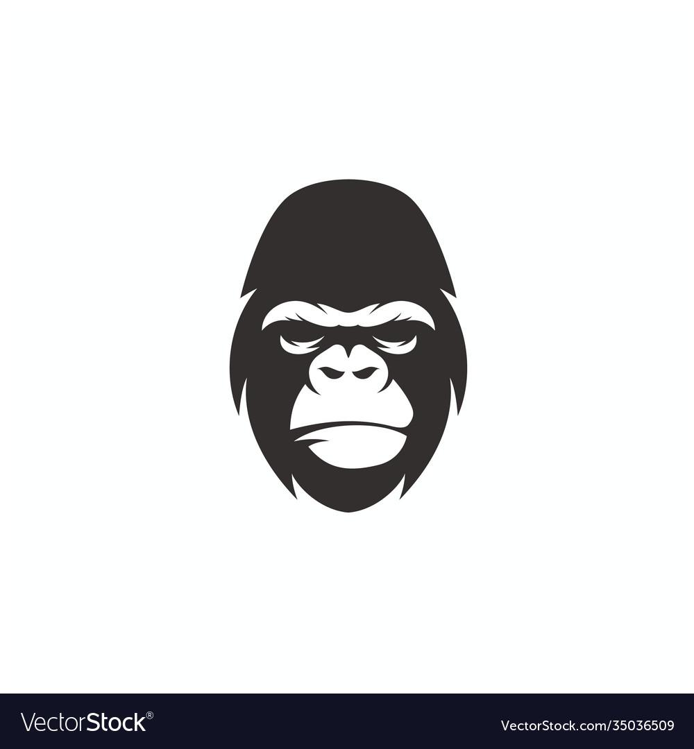 Gorilla face logo design