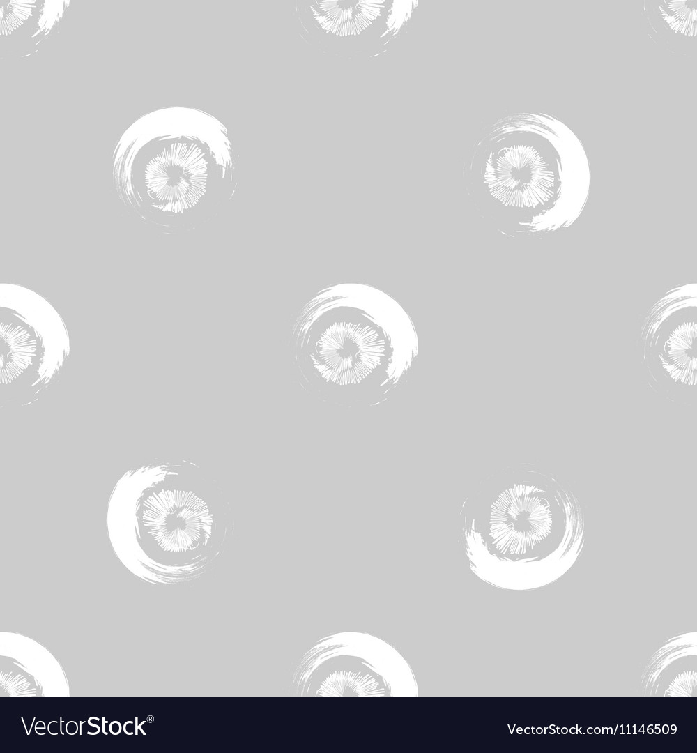 Grunge white circles on grey background vector image