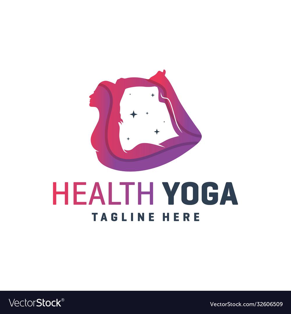 Sports yoga training logo