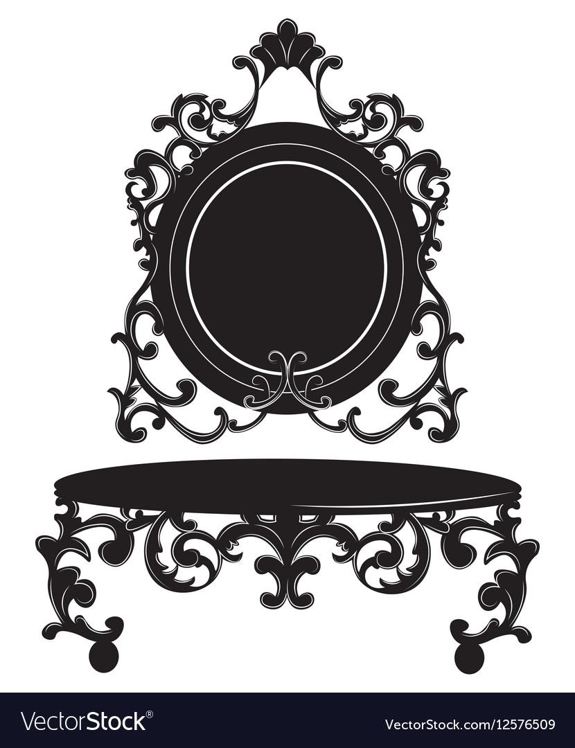 Vintage Baroque Imperial Dressing Table set