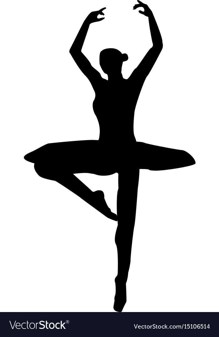Ballet Dancer The Black Color Icon Royalty Free Vector Image