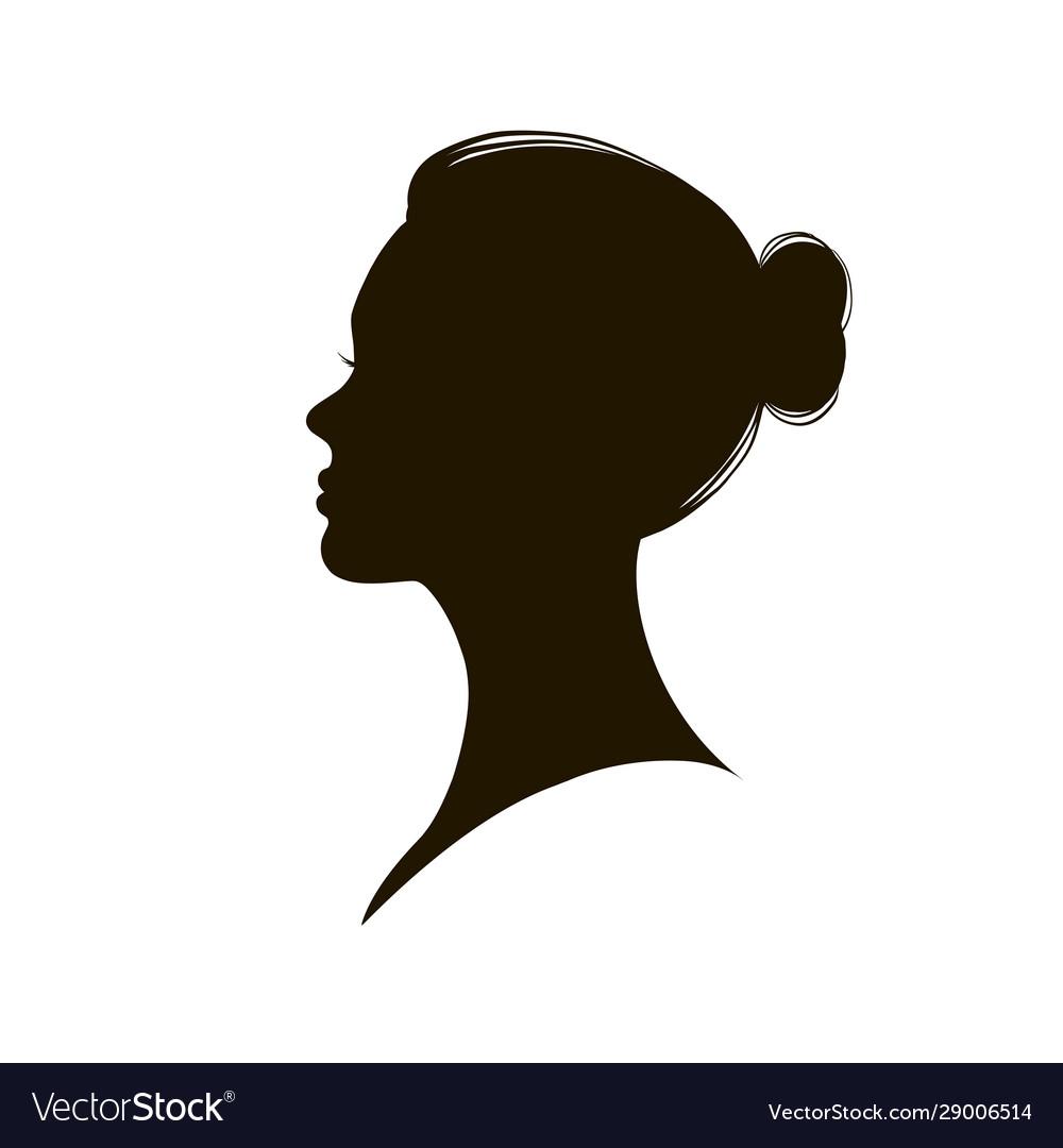 Beautiful female profile