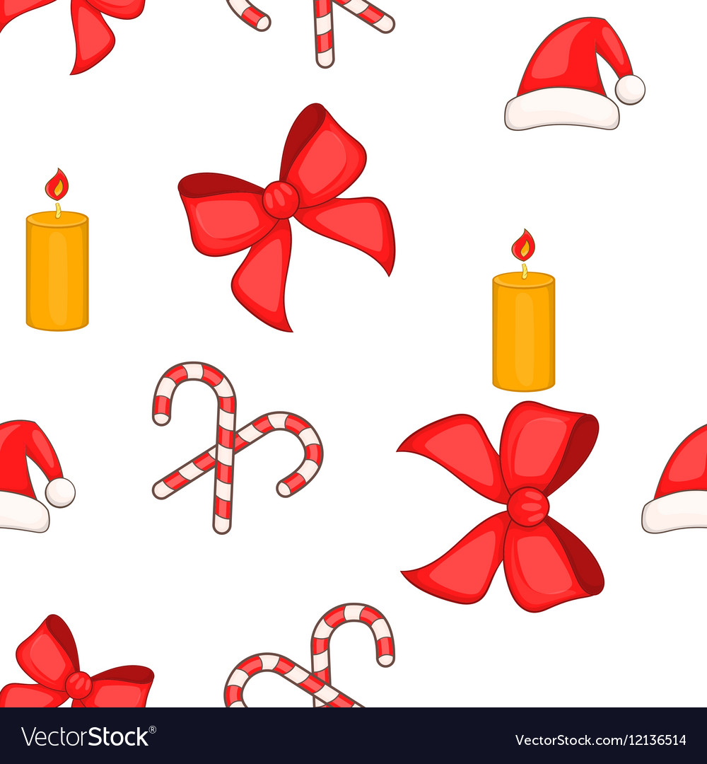 Christmas elements pattern cartoon style vector image