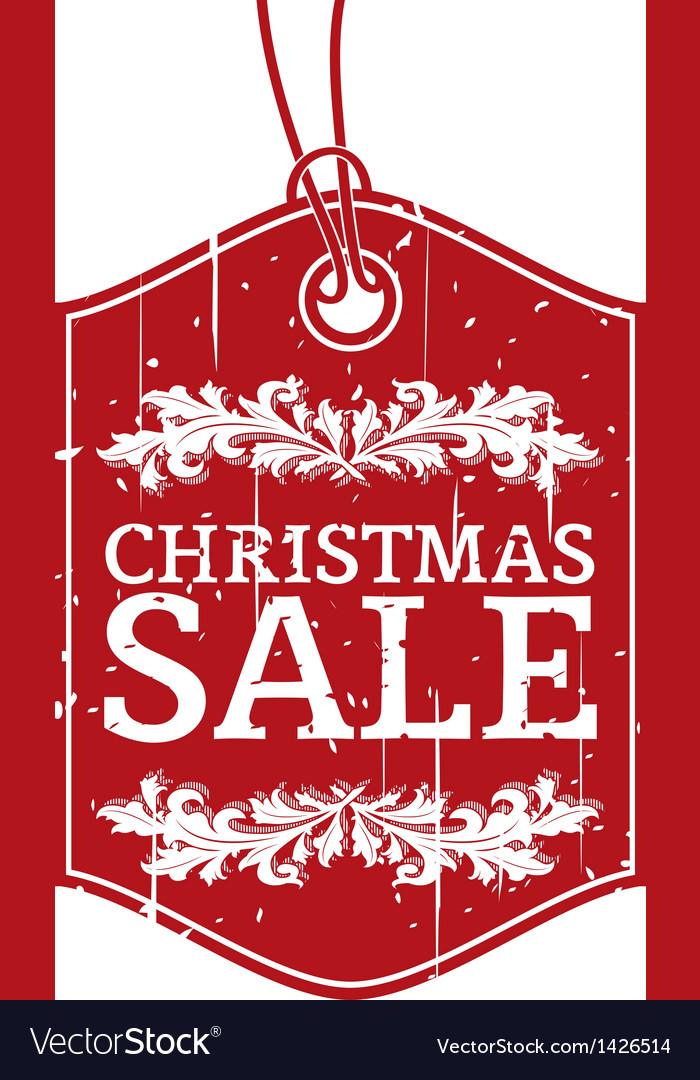 Christmas sale label vector image