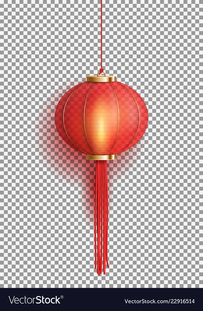 Festive Chinese Red Lantern Template Royalty Free Vector