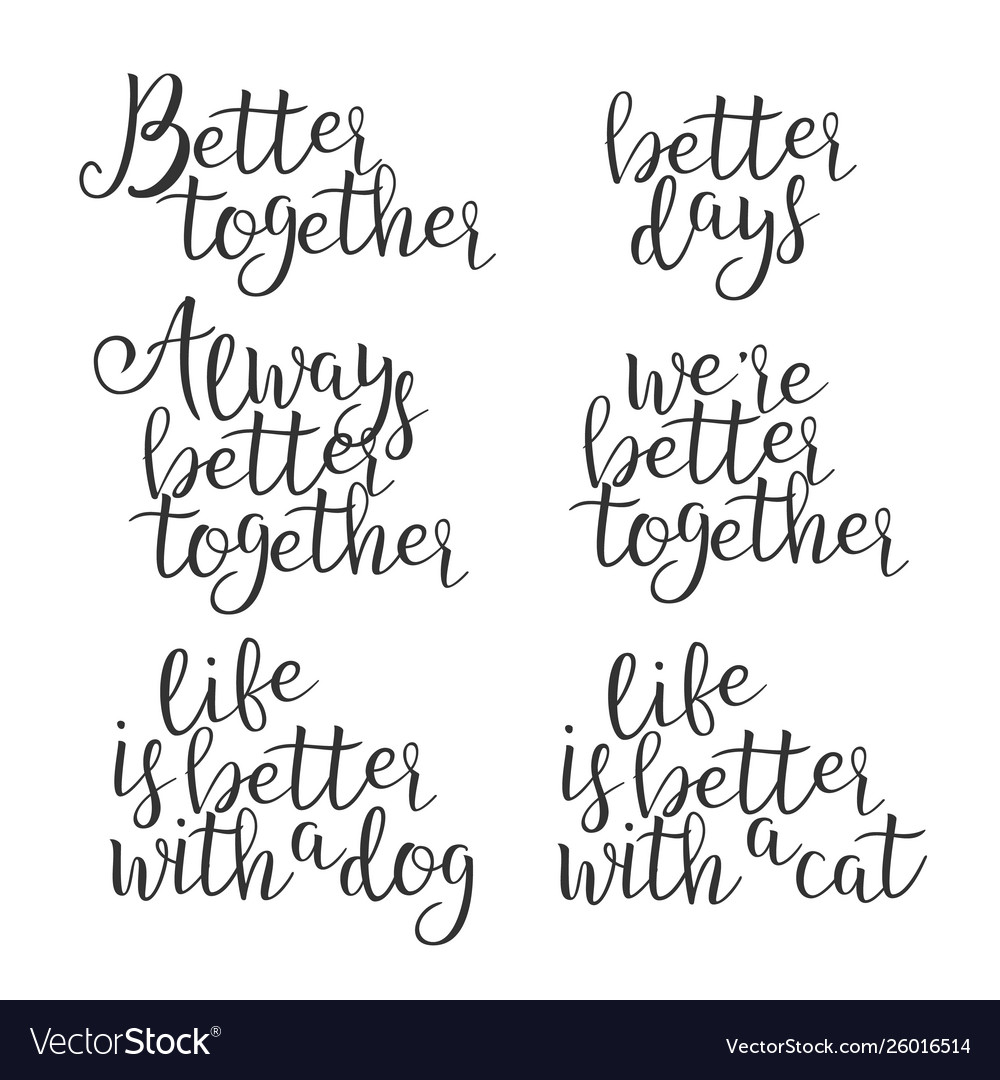 Funny modern calligraphy of better word