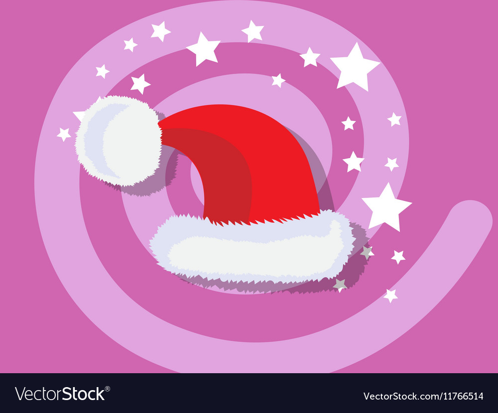 Santa Claus hat icon christmas vector image