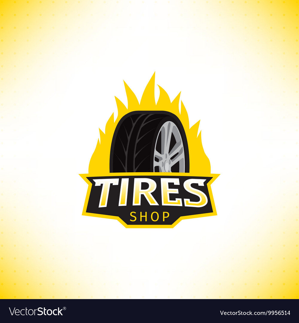 Template of tires shop logo