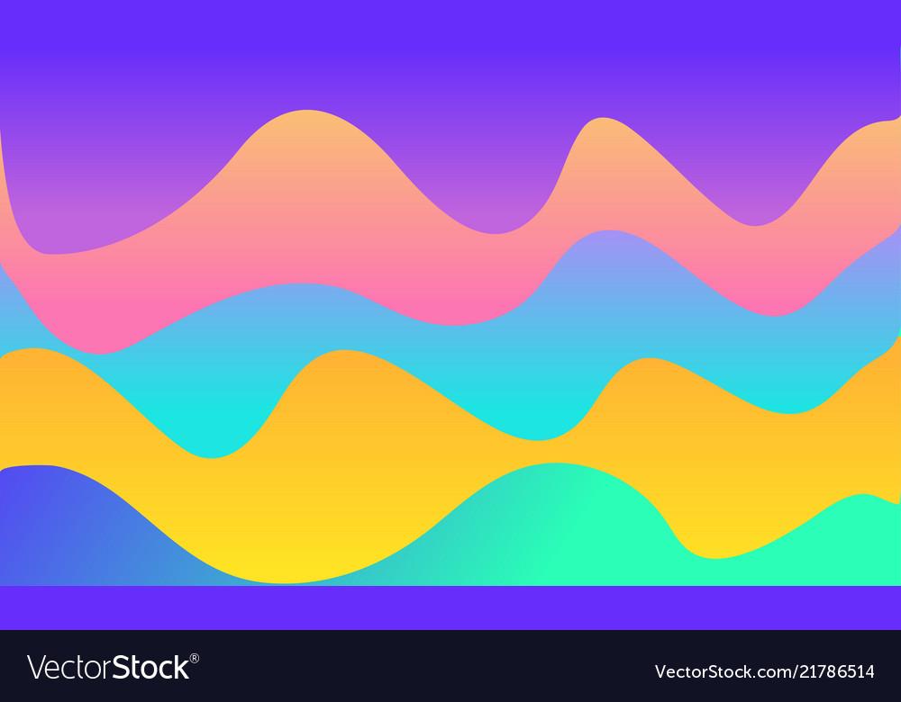 Wavy geometric background trendy gradient shapes