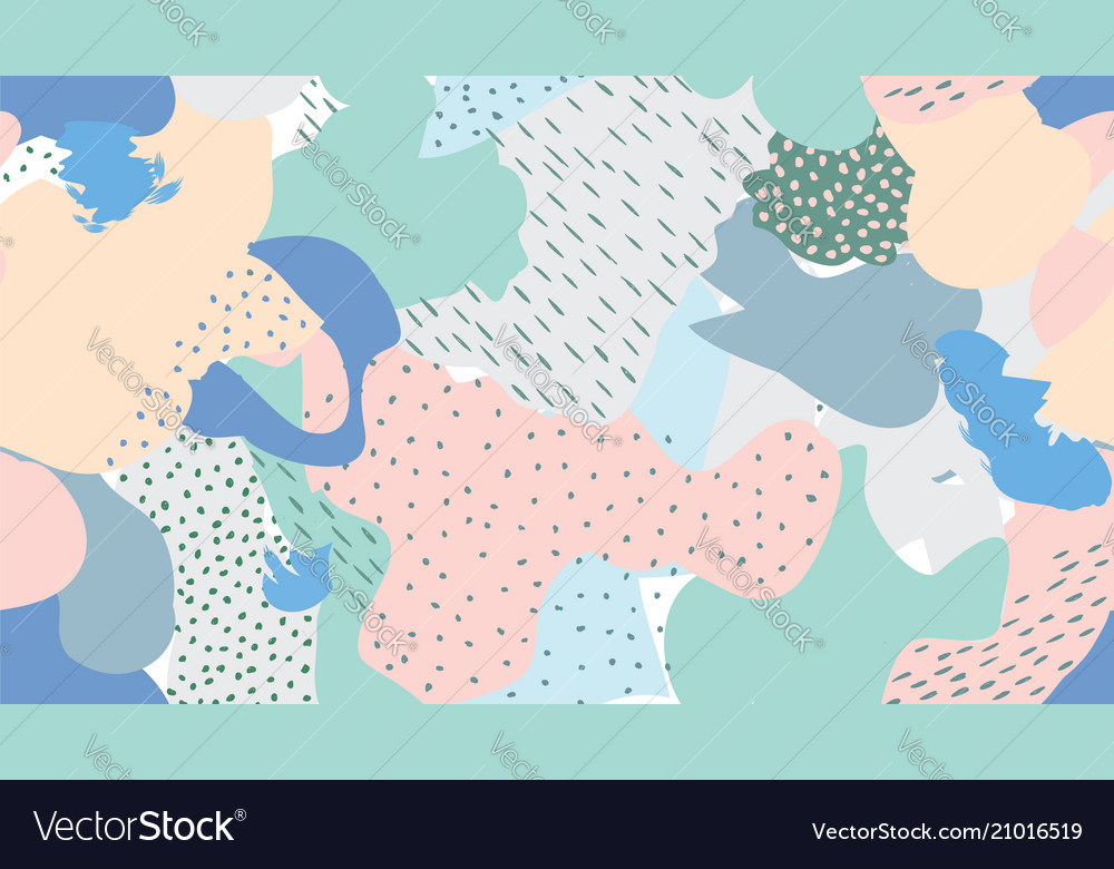 Abstract seamless pattern blots dots painted
