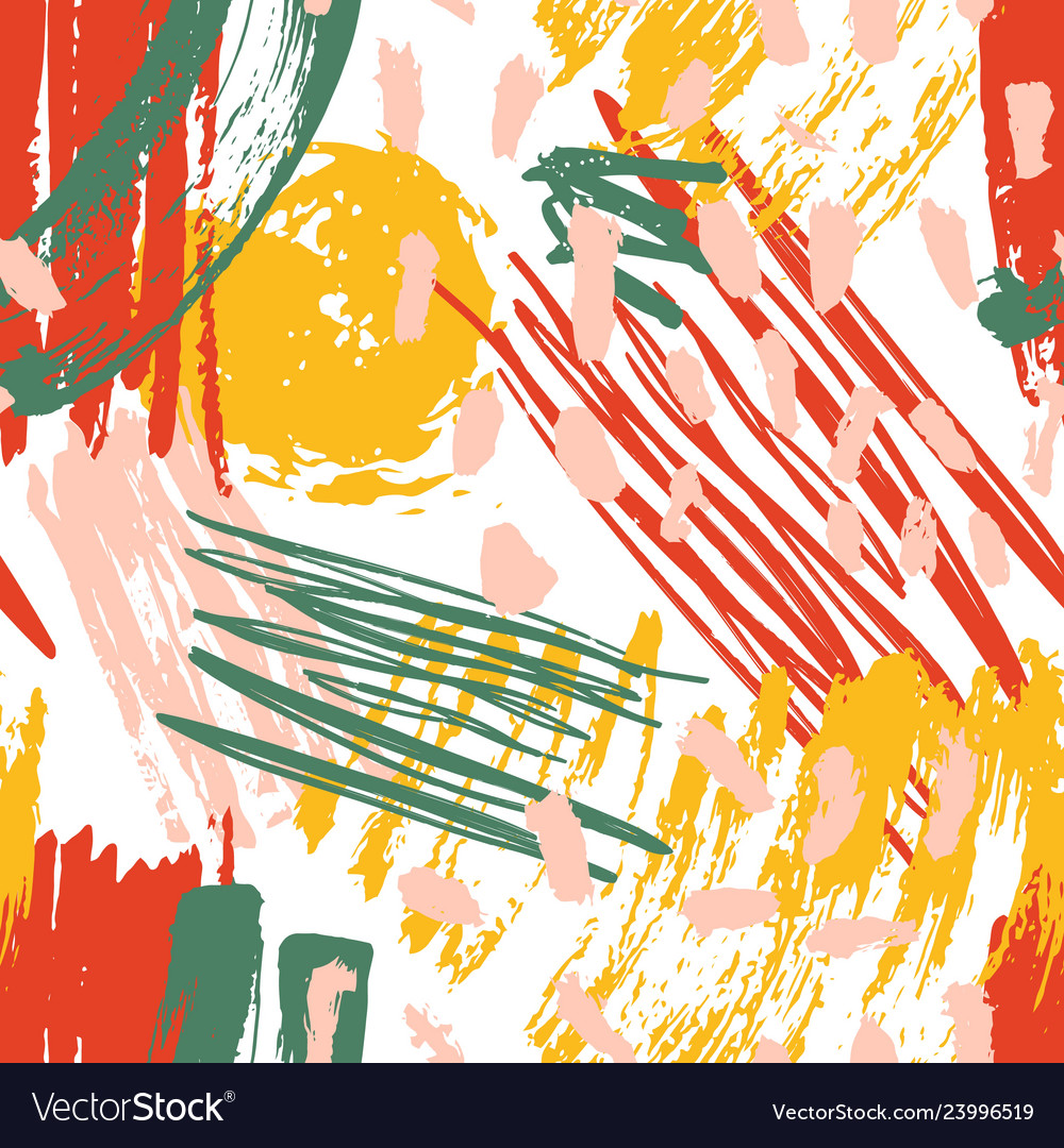 Abstract seamless pattern with paint stains brush