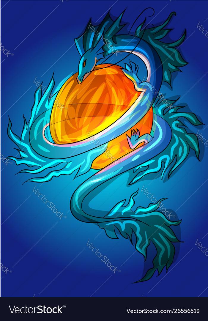 Asian small dragon ice lizard monster