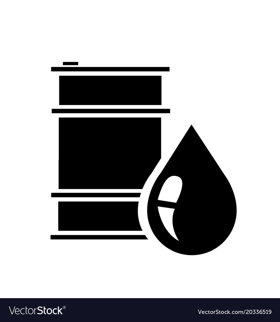 Barrel oil icon flat Royalty Free Vector ImageOil Barrel Icon