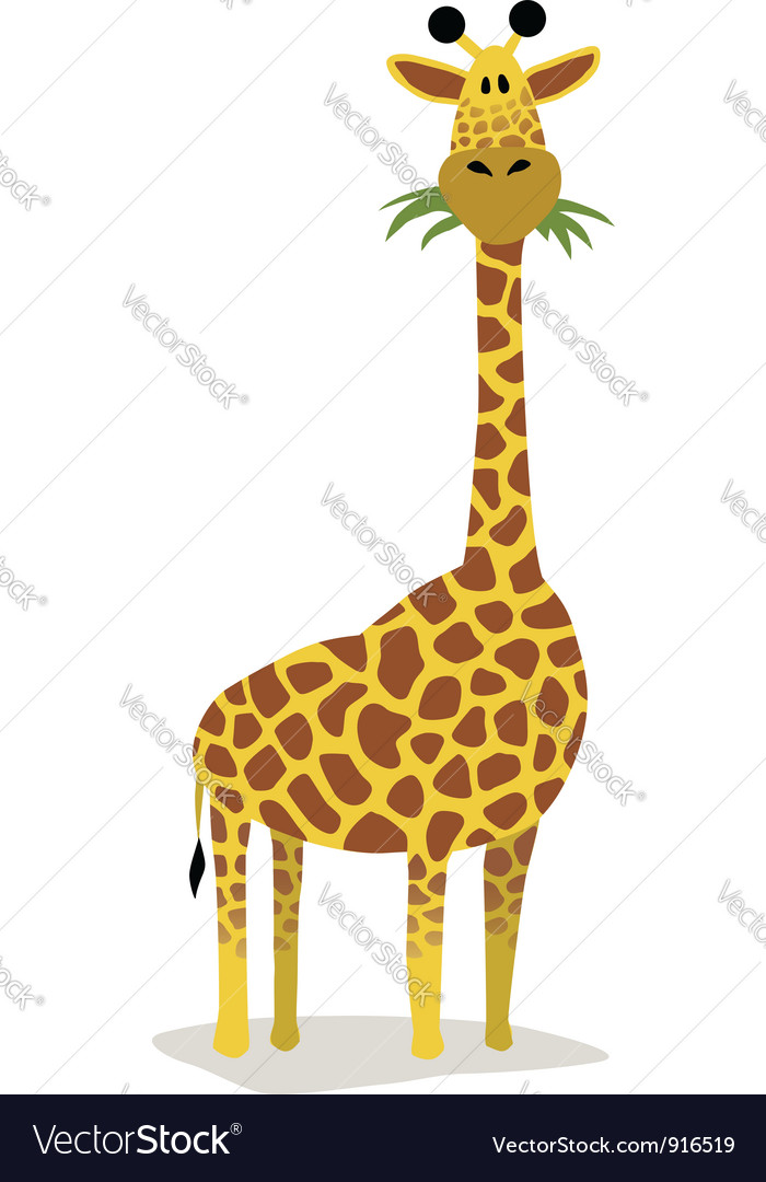 Cartoon giraffe Royalty Free Vector Image - VectorStock