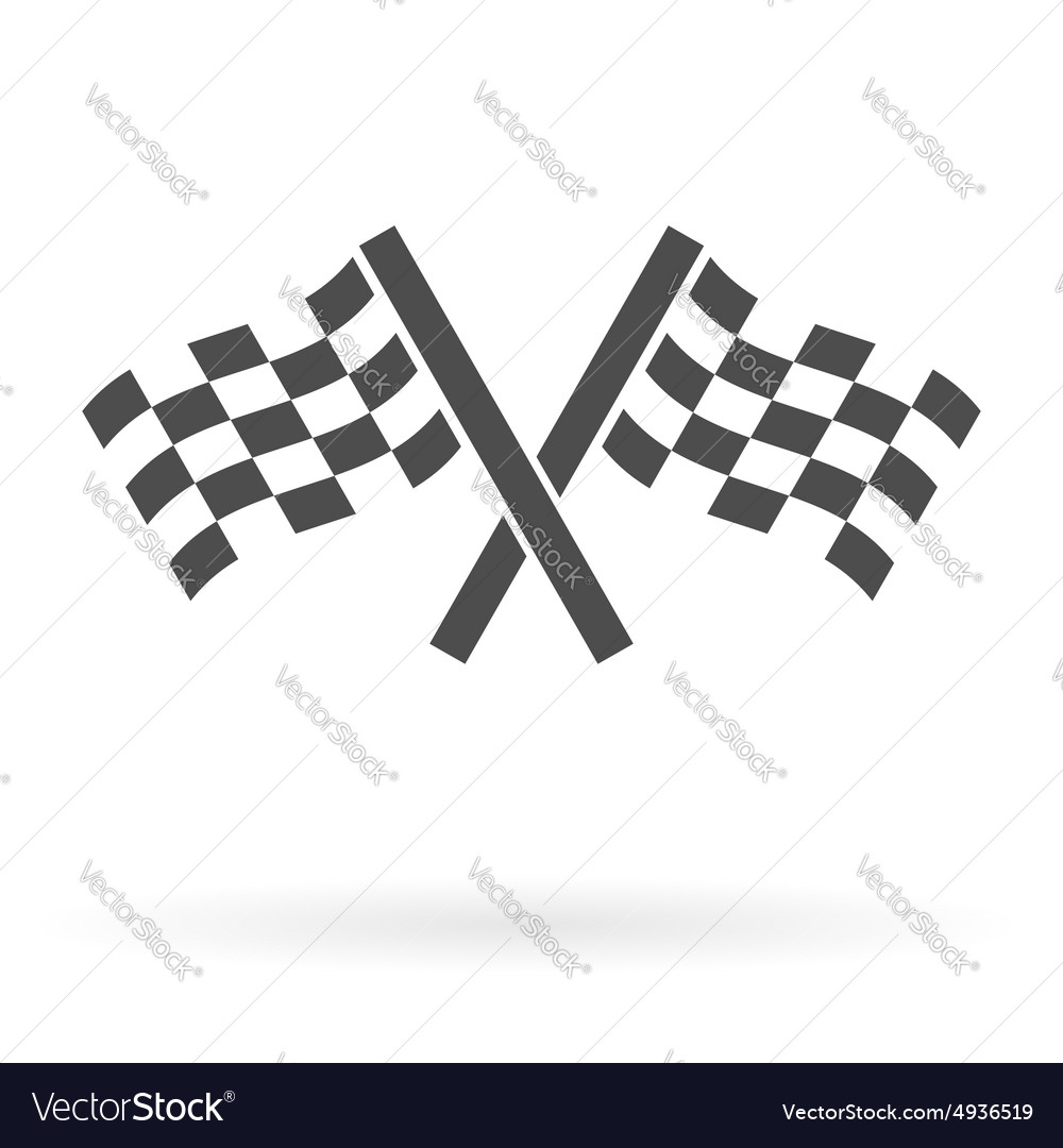 Crossed finish flags icon
