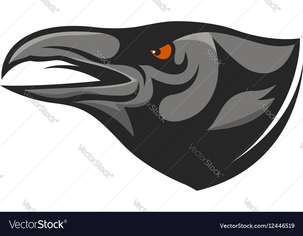 Crow head mascot Raven head