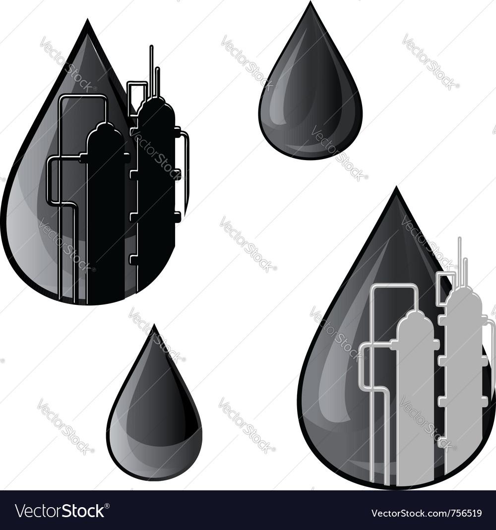 Oil and gasoline symbols vector image