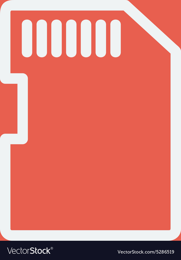 SIM card thin line icon