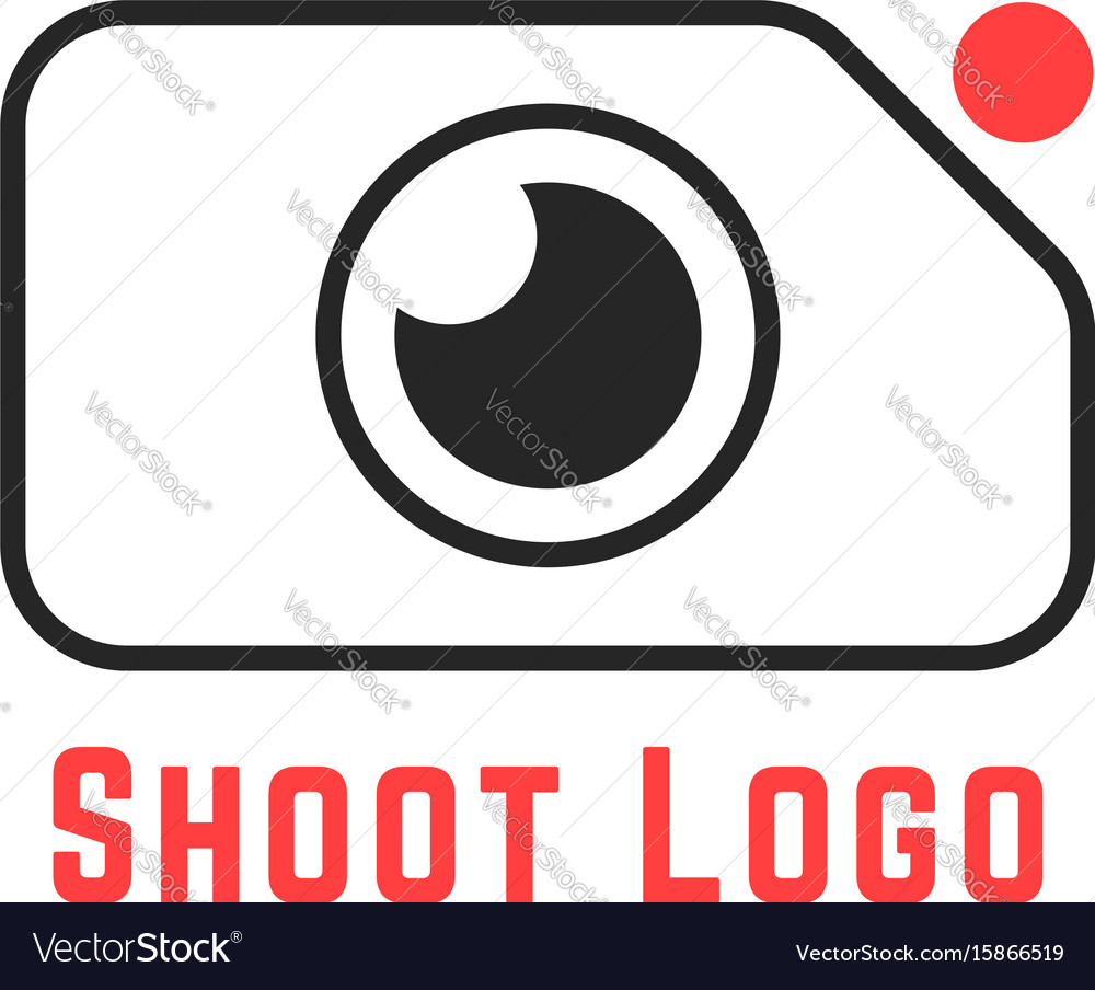 Thin line simple shoot logo