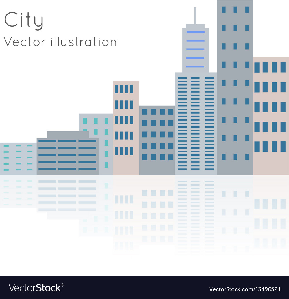 Big city on white backgrpund vector image