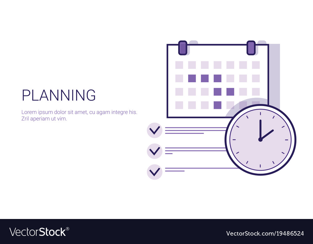 Business planning concept corporate time