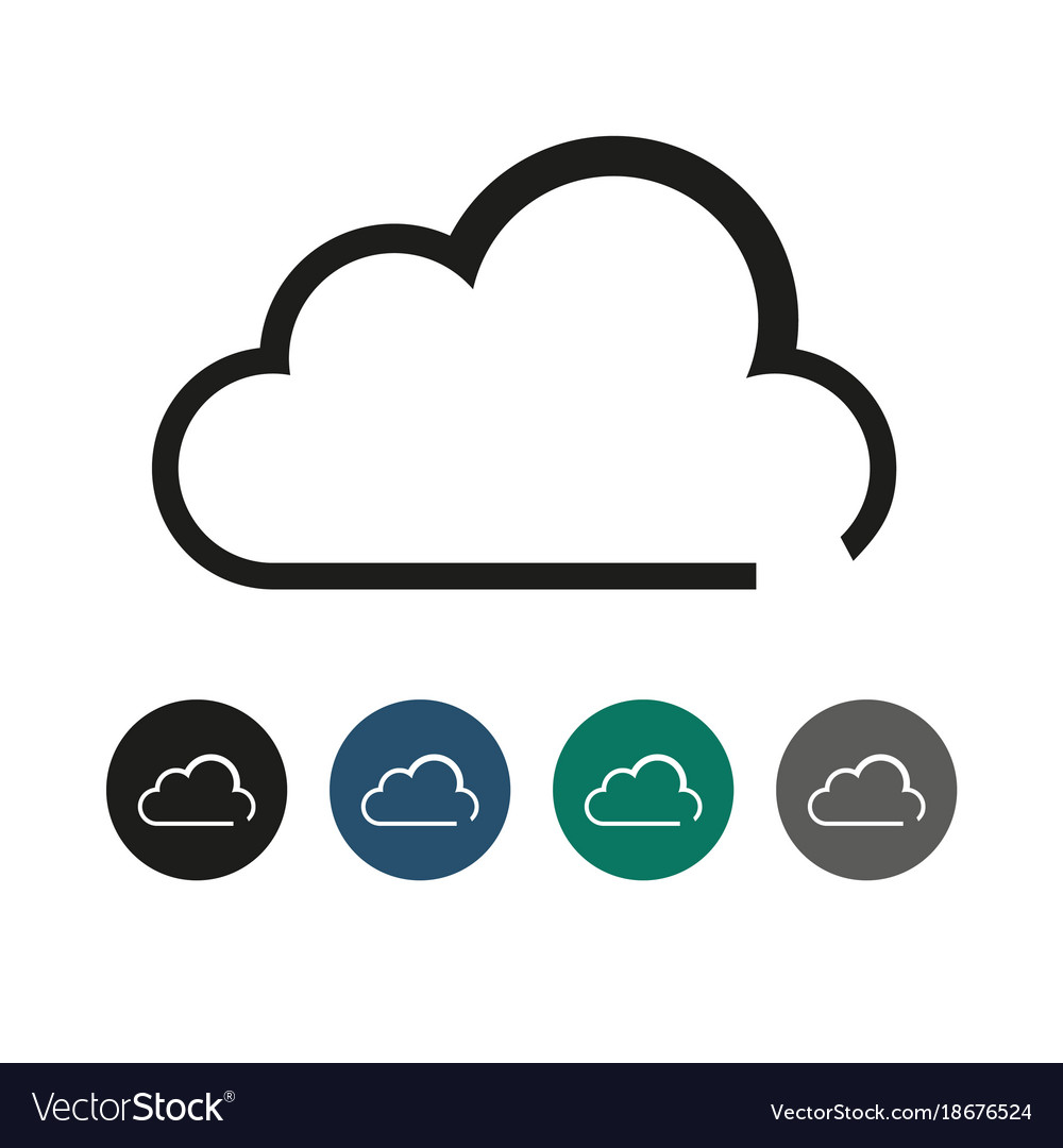 Cloud outline graphic royalty free vector image cloud outline graphic vector image voltagebd Choice Image