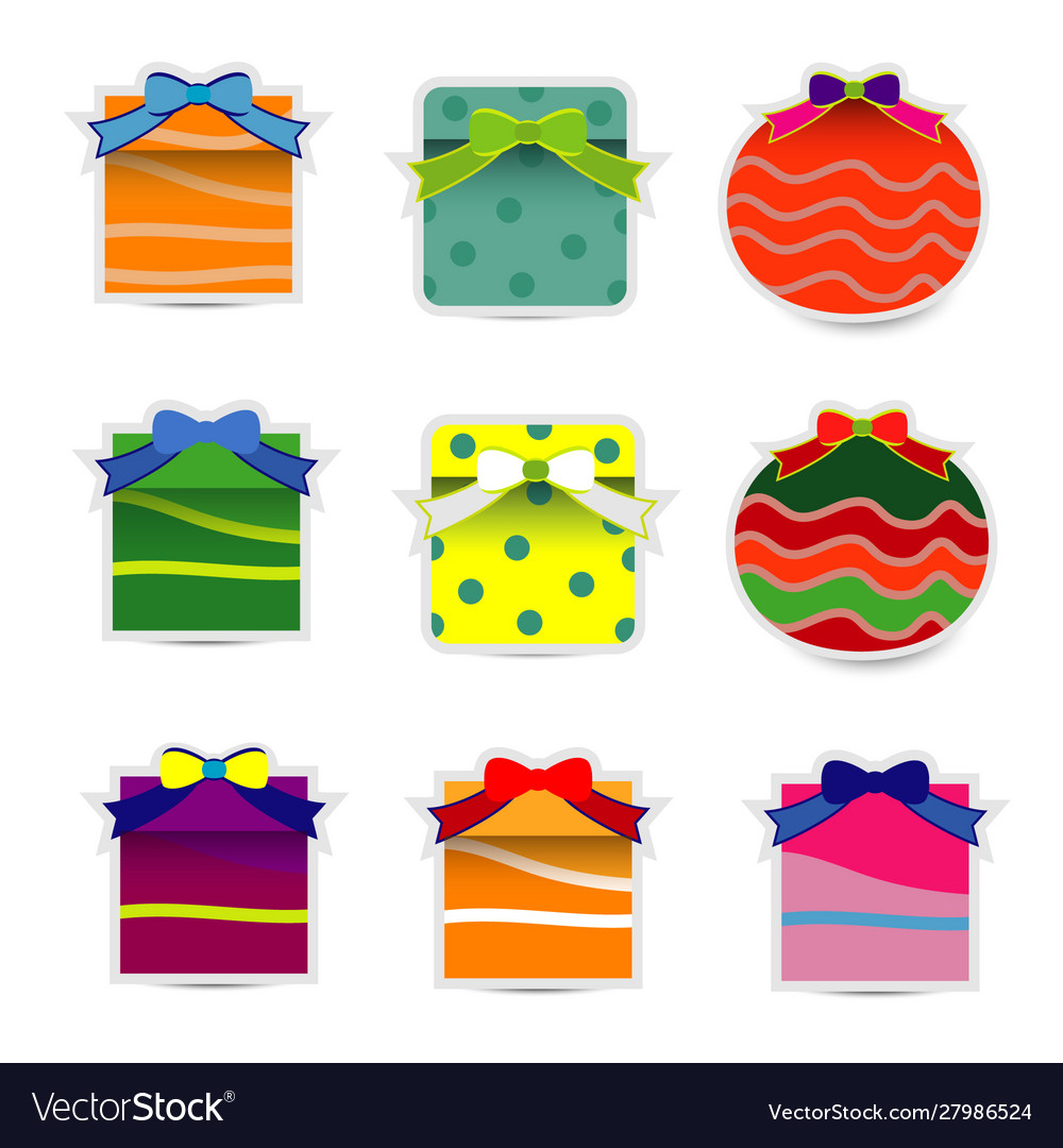 Collection gift box with bow