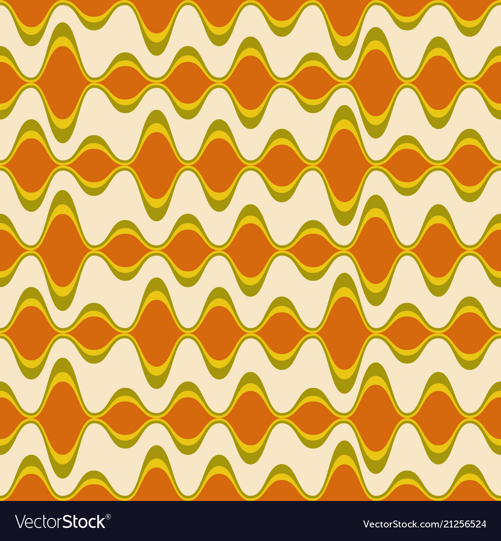 Retro psychedelic seamless pattern