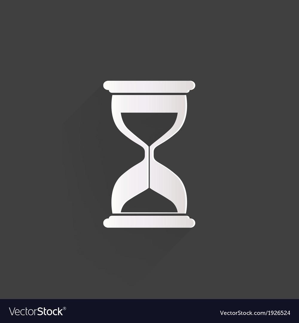 Sand clock icon Glass timer symbol