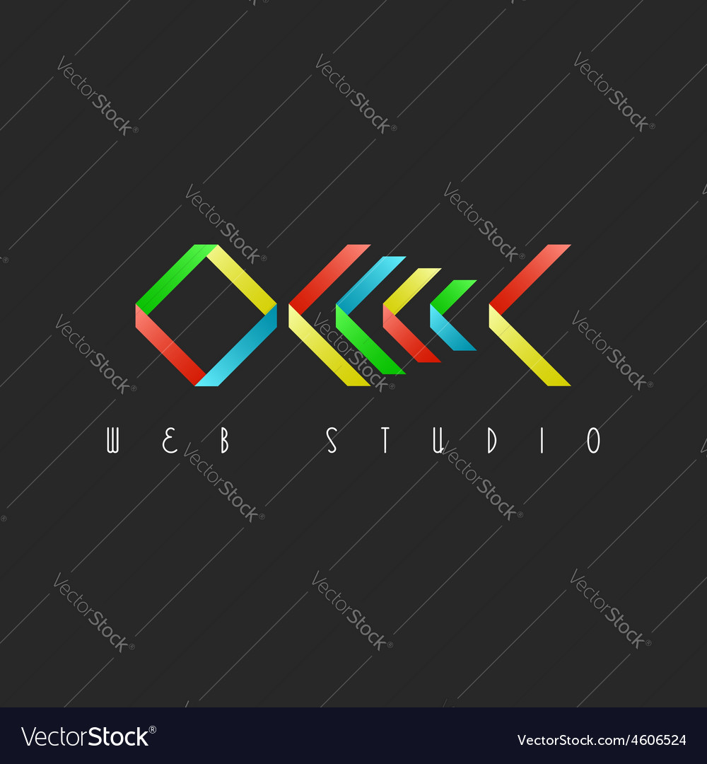Skeleton fish colorful design logo restaurant idea vector image