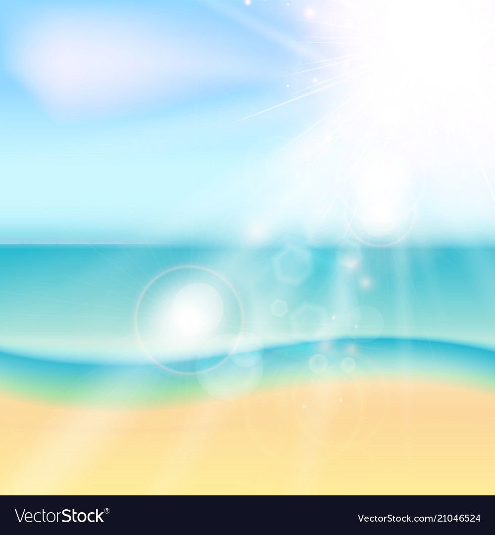 Summer beach and tropical sea with sunlight