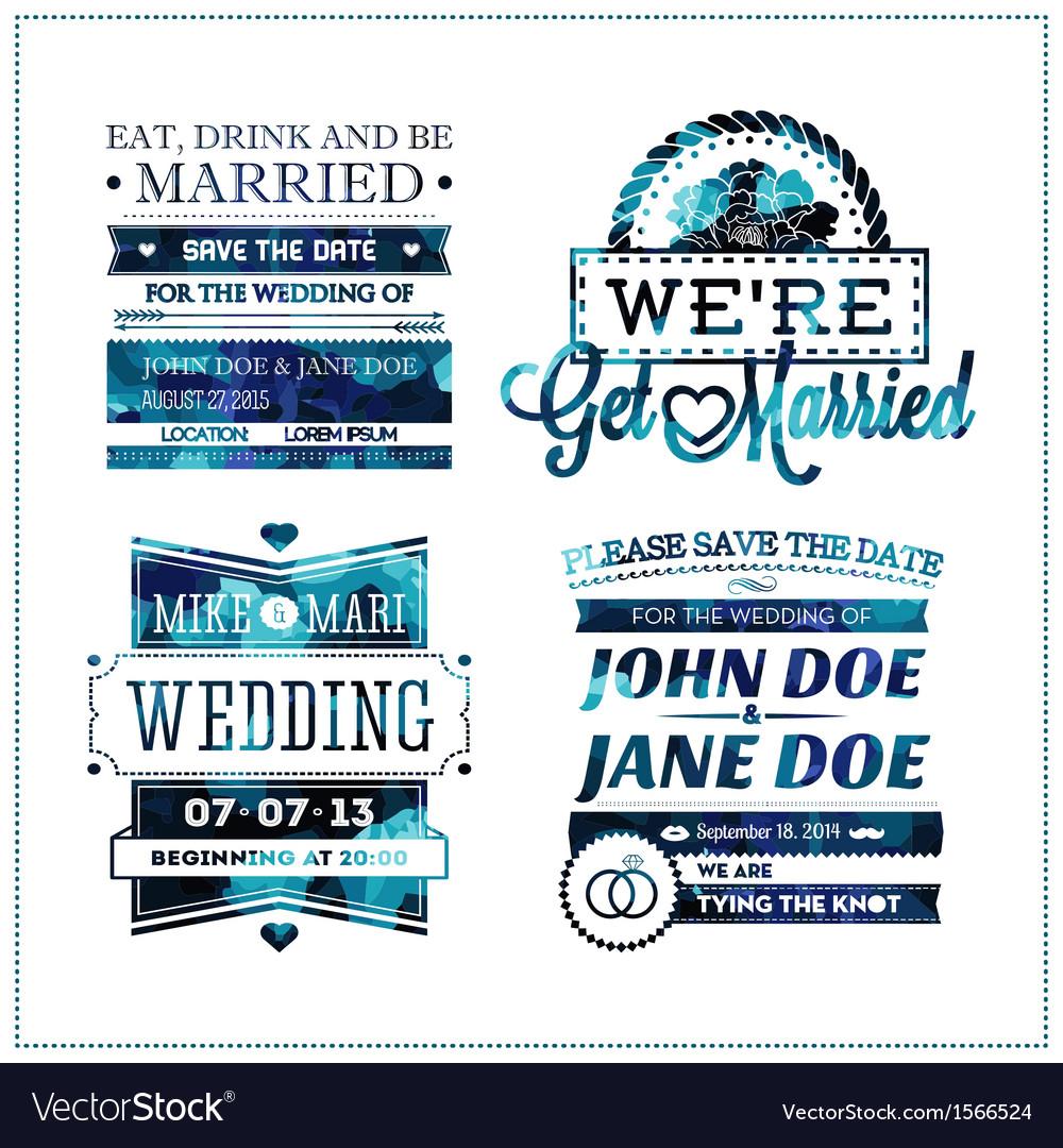 Wedding invitation geo vector image